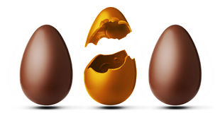 - trzy jajka Zdjęcie Stock