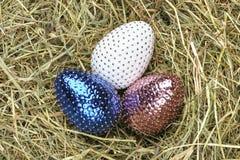 trzy jajka wielkanoc Fotografia Stock