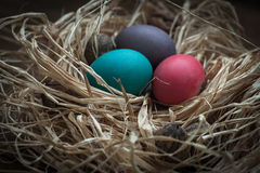 trzy jajka wielkanoc Zdjęcia Stock