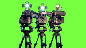 Trzy kamera wideo zbiory