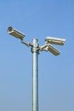 Trzy kamery bezpieczeństwa Fotografia Royalty Free