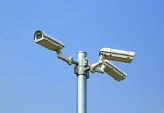 Trzy kamery bezpieczeństwa Obrazy Royalty Free