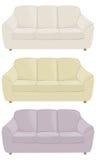 Trzy kanapy w różnych kolorach Zdjęcie Royalty Free