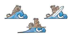 Trzy kipieli Gargoyls zrozumienie Dziesięć Zdjęcie Stock