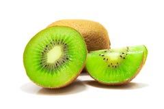 Trzy kiwi owoc odizolowywająca na białym tle Zdjęcie Stock