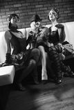 trzy kobiety staromodne obraz stock