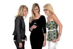 trzy kobiety telefonu jednostek gospodarczych Fotografia Royalty Free