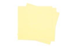 Trzy kolorów żółtych notepad na białym tle Obrazy Stock