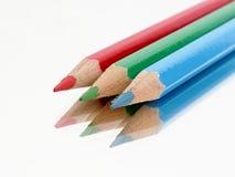 Trzy kolor kredki Obraz Stock