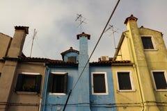 Trzy koloru dom Obrazy Stock