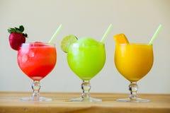Trzy koloru Margarita napoju dodatku specjalnego Obraz Stock