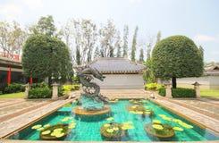 Trzy królestwa Parkują, Pattaya Tajlandia obraz stock