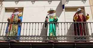 Trzy królewiątko statuy, Hiszpania Zdjęcia Royalty Free