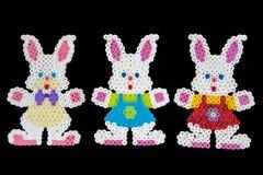 Trzy królika królika kształta Obrazy Stock