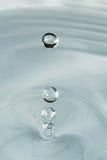 Trzy kropli woda Fotografia Stock