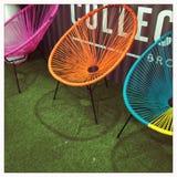 trzy krzesła Fotografia Royalty Free