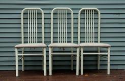 trzy krzesła Fotografia Stock