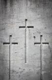 Trzy krzyża w kamieniu zdjęcie royalty free