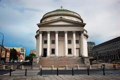 Trzy krzyży kwadrat w Warszawa, Polska Obrazy Stock