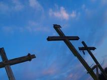 trzy krzyżyki obrazy royalty free