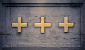 trzy krzyżyki zdjęcie stock