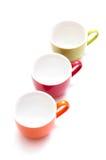 Trzy kubka kawowego kubka Zdjęcia Royalty Free