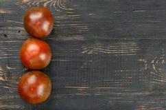 Trzy kumato pomidoru fotografia royalty free