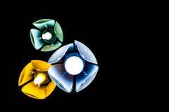 Trzy lampa na suficie Zdjęcia Royalty Free