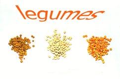 Trzy legumes Fotografia Stock
