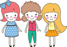 Trzy śliczna dziewczyna Obrazy Stock