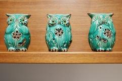 Trzy Mądrego sowa posążka Obrazy Royalty Free