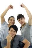 Trzy mężczyzna fotografia royalty free