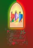 trzy mędrzec lub trzy królewiątka Narodzenie Jezusa ilustracja Zdjęcie Royalty Free