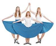 Trzy młoda kobieta w odzieży dla Szkockiego tana zdjęcie royalty free