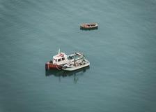 Trzy mała łódź rybacka Zdjęcie Stock