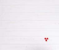 Trzy małego galaretowego cukierku w postaci serc w kącie Obraz Royalty Free