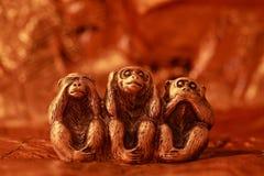 trzy małpy mądrych zdjęcia stock
