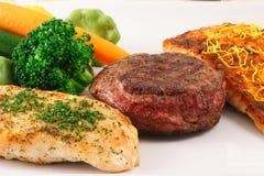 trzy matrycują mięsa Obraz Stock