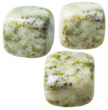 Trzy mech agata gemstones (mokka kamień) Zdjęcia Stock