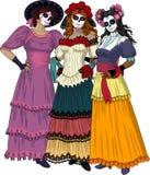Trzy Meksykańskiej graci ilustracji