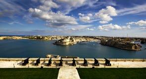 Trzy miasta w Malta Zdjęcia Royalty Free