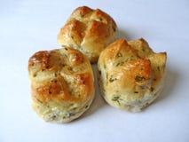 Trzy mini chleba Fotografia Stock