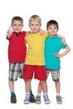 Trzy mod chłopiec stojak wpólnie Obrazy Royalty Free