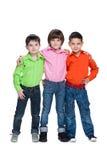 Trzy mod potomstw chłopiec zdjęcie royalty free