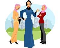 Trzy muzułmańskiej dziewczyny Obraz Royalty Free