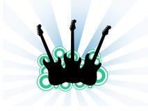 trzy na gitarze Obrazy Stock
