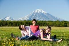 trzy nastolatka Obrazy Stock