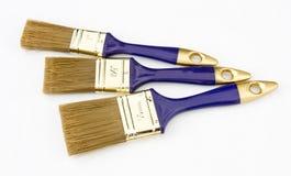 Trzy nowego paintbrushes Zdjęcie Stock