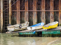 Trzy łodzi przy Aberdovey zdjęcie stock