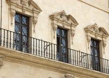 trzy okna Zdjęcia Stock